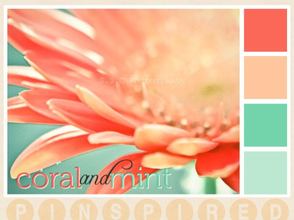 Pinspired: Coral and Mint