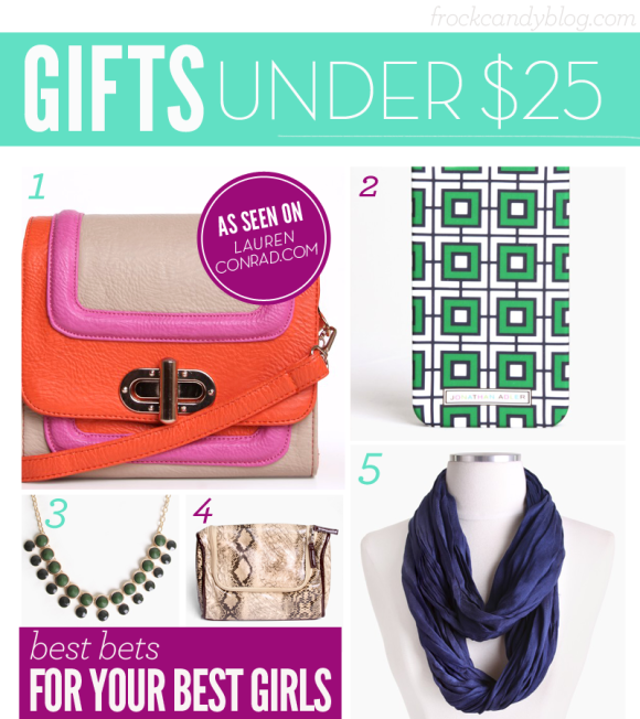 Holiday Gift Guide: Gifts Under $25 from FrockCandy.com