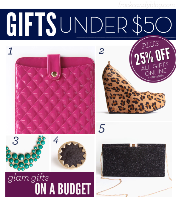 Holiday Gift Guide: Under $50 | FrockCandy.com